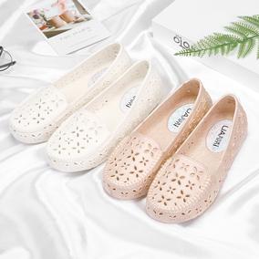 夏季塑料护士鞋白色沙滩鞋妈妈鞋