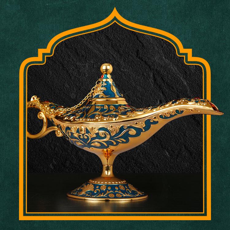阿拉丁神灯摆件创意复古许愿灯欧式客厅风格俄罗斯家具装饰工艺品