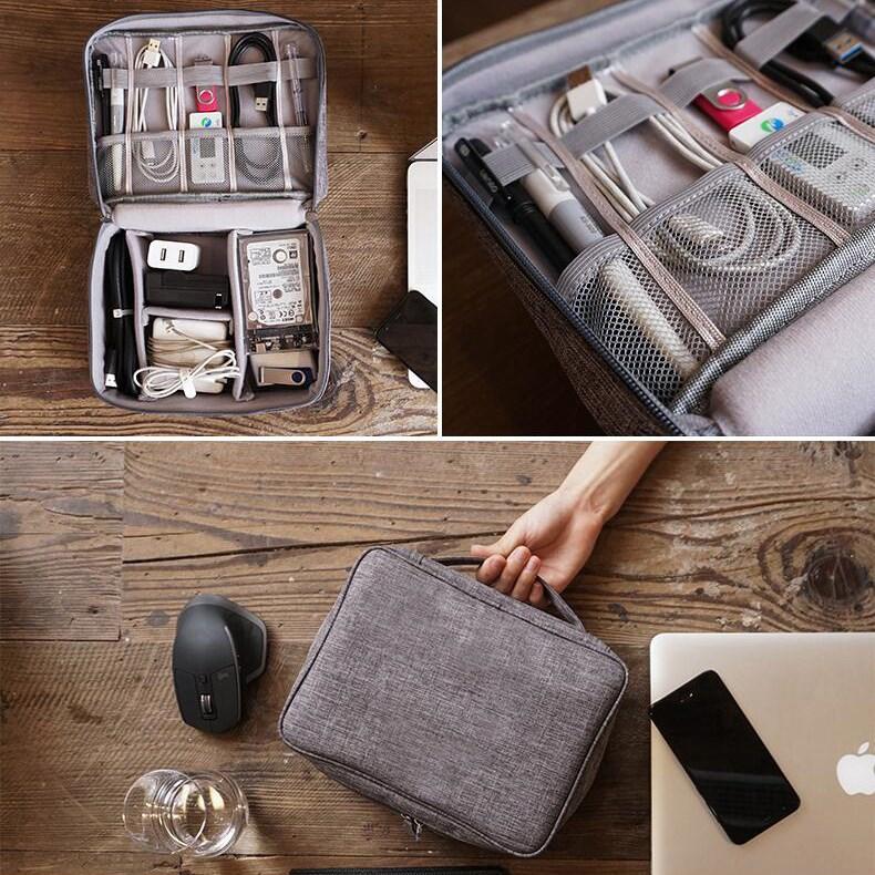 旅行便携数码产品电子收纳包耳机数据线移动电源充电器整理收纳袋