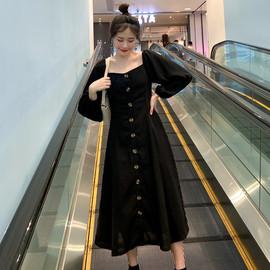 大码胖mm仙女裙超仙赫本风连衣裙设计感小众长裙显瘦显高气质裙子