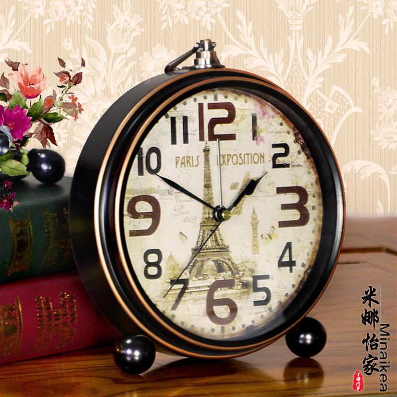 39.80元包邮欧式创意仿古现代客厅装饰大号闹钟