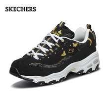 Skechers Skechers Skechers Sketches New Shoes Butterfly Embroidered Panda Shoes Retro Thick-soled Muffin Papa Shoes 13170