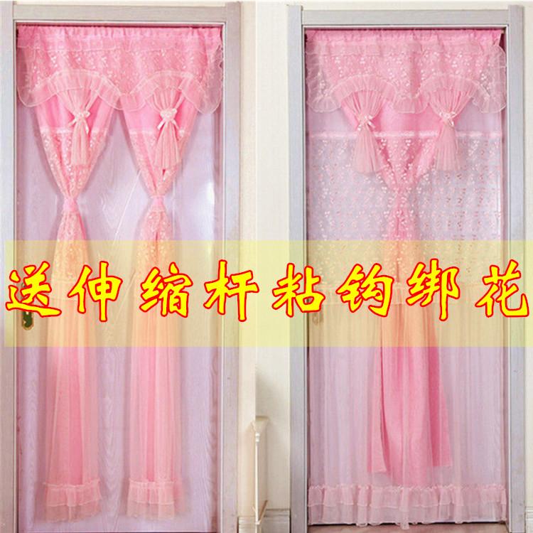 (用16.21元券)门帘布艺卧室蕾丝厨房遮光隔断帘