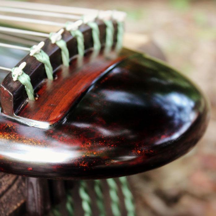 琴書堂純手作り七弦琴小琴子供用の琴の膝琴カオス式の琴