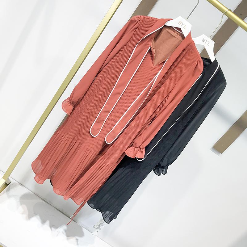 (用1元券)hyl香港设计师品牌限量定制连衣裙