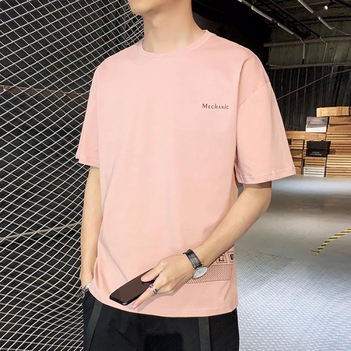 男士短袖T恤潮流潮牌宽松纯棉衣服2020新款体恤男HHC1803