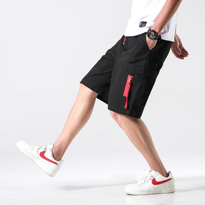 夏装新款日系国潮工装休闲短裤五分裤港仔大码中裤A093-K026-P35