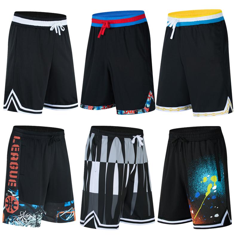 Basketball pants shorts summer thin oversize loose quick drying Capris running training fitness pants mens sports pants