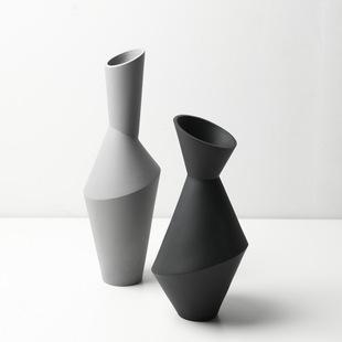 现代时尚简约陶瓷花瓶摆件客厅玄关创意餐桌插花北欧干花装饰品