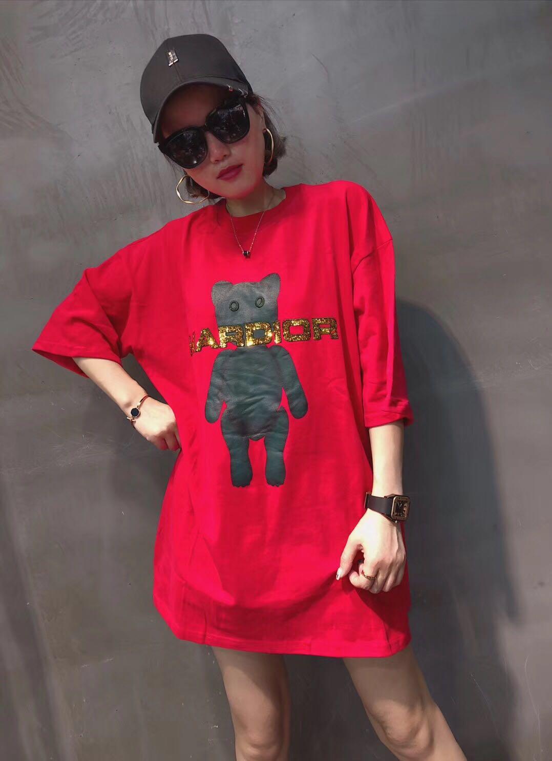 假一赔十下身失踪t恤女怪味少女hiphop上衣嘻哈网红同款潮人宽松bf风巨袖