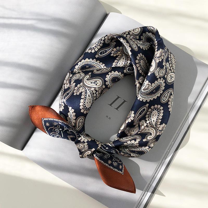 Silk cashew flower scarves for men and women