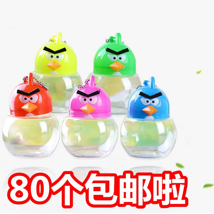 qq鱼瓶龟瓶鱼缸乌龟瓶迷你手提塑料杯小龟缸喜洋洋愤怒小鸟鱼盒子