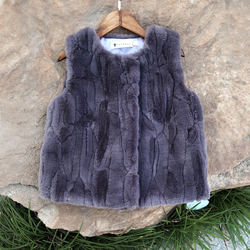2020秋冬季时尚儿童马甲外穿男童女童宝宝仿皮草羊羔毛绒坎肩背心