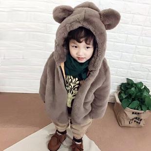 儿童特价 女童小大童毛毛棉衣宝宝加厚加绒外出服 男童外套冬装 韩版