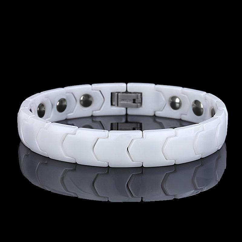 日韩版情侣手链简约 黑白陶瓷手链 学生男女手环防辐射保健首饰品