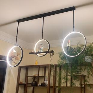 新中式禅意小吊灯 简约古典餐厅书房茶室灯创意个性中国风LED灯具