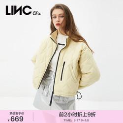 LINC金羽杰21冬新款女式羽绒服女短款轻薄羽绒服外套女Y21801036