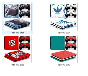 Pro游戏机贴纸 Pro主机贴膜 Pro 潮流美女贴 索尼PS4 个性 PS4