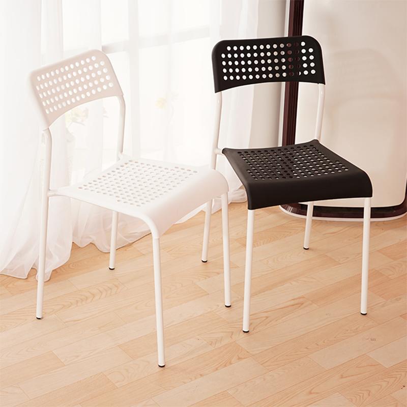 椅子现代简约餐椅懒人靠背椅休闲椅家用塑料凳子书桌椅创意办公椅