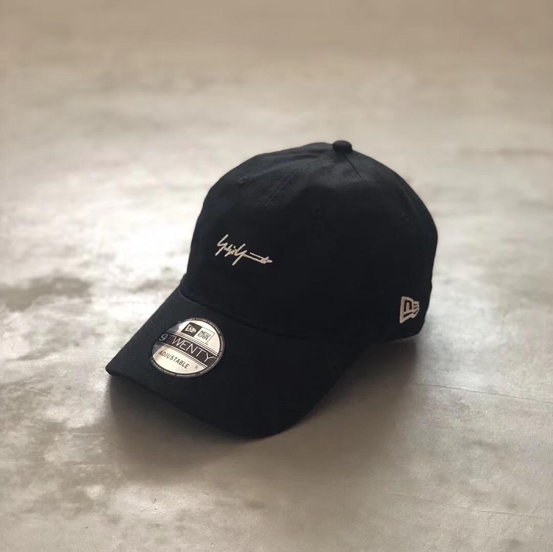 山本耀司 yohji Yamamoto 银线 联名小刺绣 鸭舌帽 棒球帽 弯檐帽