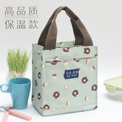 保温饭盒袋加厚铝箔防水帆布放饭盒包带饭手拎包午餐便当袋手提袋