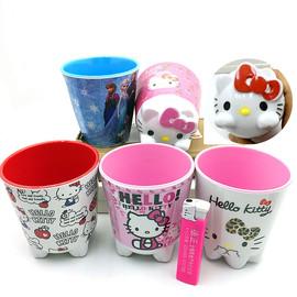 KT猫密胺仿陶瓷杯水杯刷牙杯随手杯儿童早餐牛奶果汁300ml造型杯图片