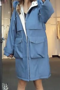 加长款羽绒服     jj002