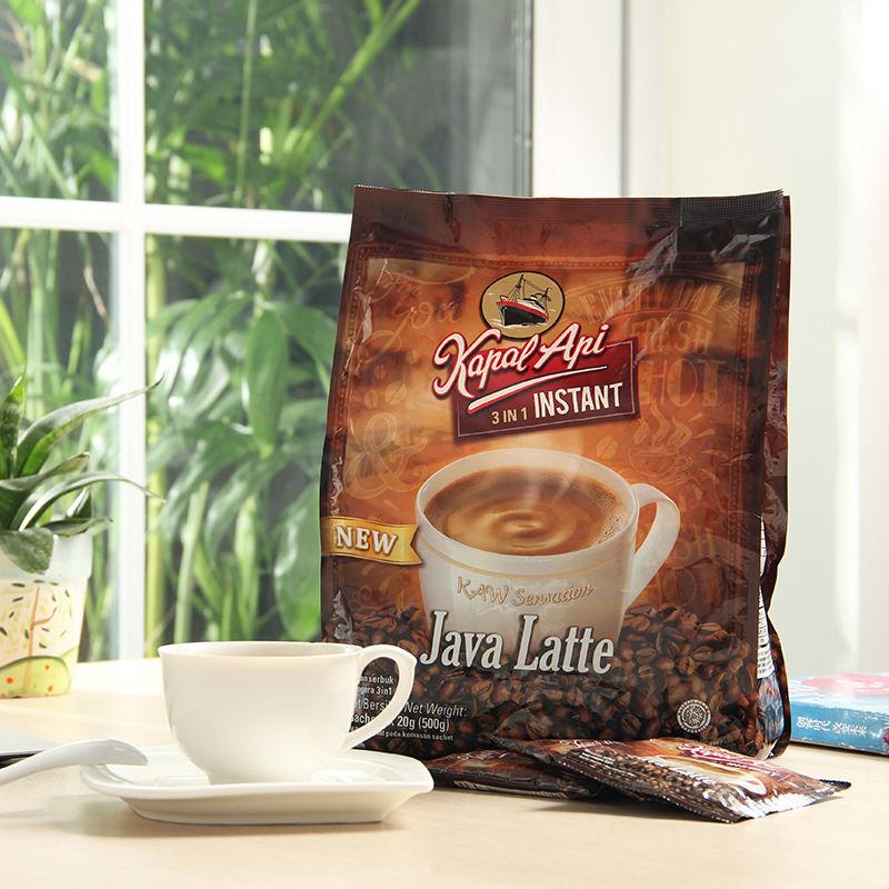 印尼原装进口速溶咖啡kapalapi火船拿铁咖啡冲调饮料500g*25小包