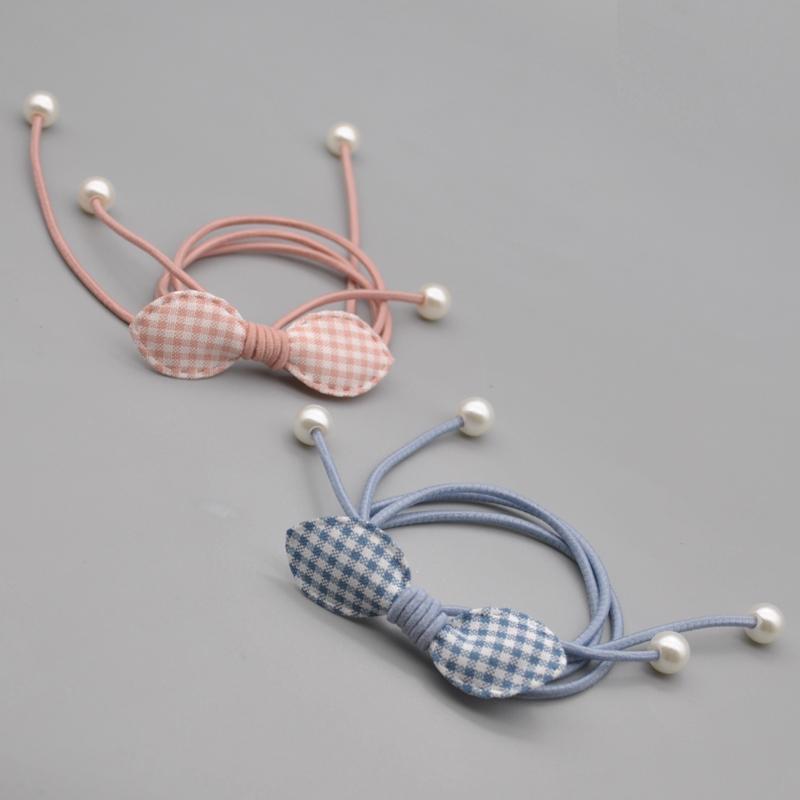 韩版超仙女孩仿珍珠女流苏皮套头绳1.50元包邮