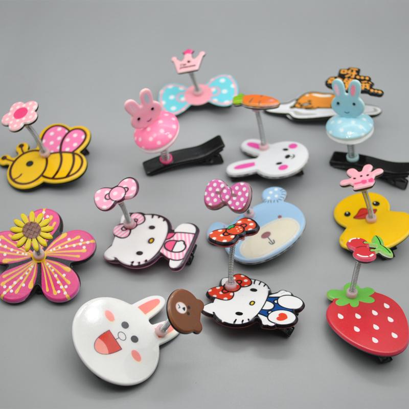 儿童发夹夹子头饰韩版可爱卡通立体弹簧侧边水果发饰小女孩发卡