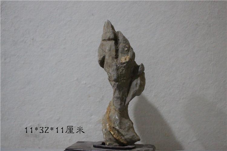 Lingbi stone, figure stone, modeling stone, pictograph stone, natural stone, raw stone, rough stone, no brush, ornamental stone B4