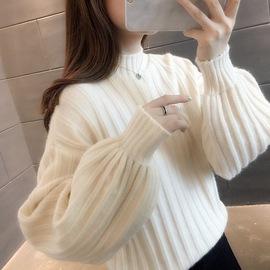 100%柔软羊毛衫毛衣女秋装2020新款韩版慵懒风套头上衣打底针织衫