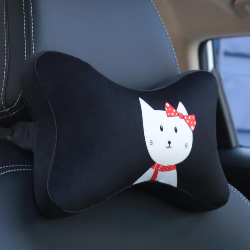 汽車頭枕 頸枕車用記憶棉 四季車載護頸枕靠枕骨頭枕卡通座椅枕頭