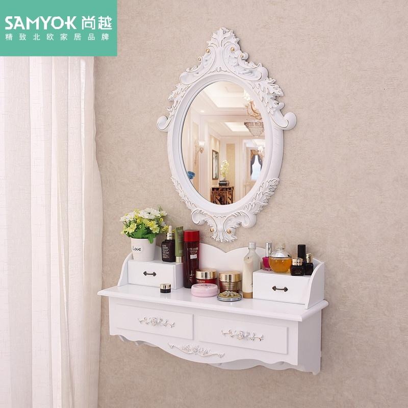 壁挂梳妆台镜迷你卧室网红ins北欧式小户型飘窗简约化妆台梳妆桌