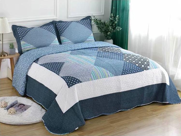 包邮 纯棉欧式夹棉床单空调夏凉被 全棉韩国水洗棉床盖三件套特价