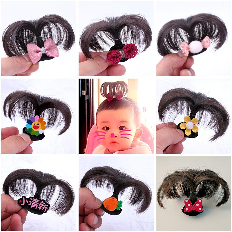 儿童头饰女 公主超仙假发头饰婴儿头饰 冲天辫汗毛夹BB夹可爱发夹