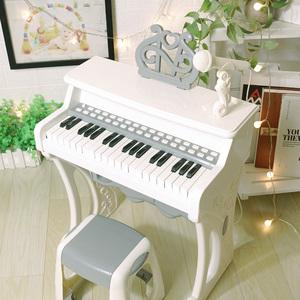 俏娃寶貝兒童鋼琴玩具女孩寶寶電子琴1-2-5周歲小孩生日禮物初學
