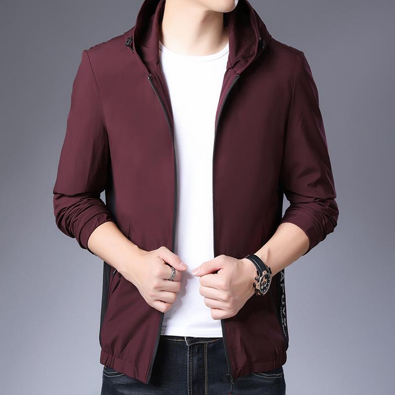 Buning 2020 spring mens new mens jacket jacket youth mens baseball collar casual jacket