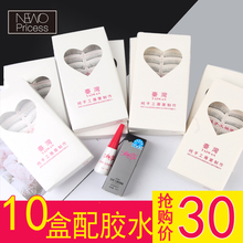 Ten boxes of ordinary 217 hand-made 216 natural false eyelashes cotton thread short style naked makeup thick eyelashes naked makeup