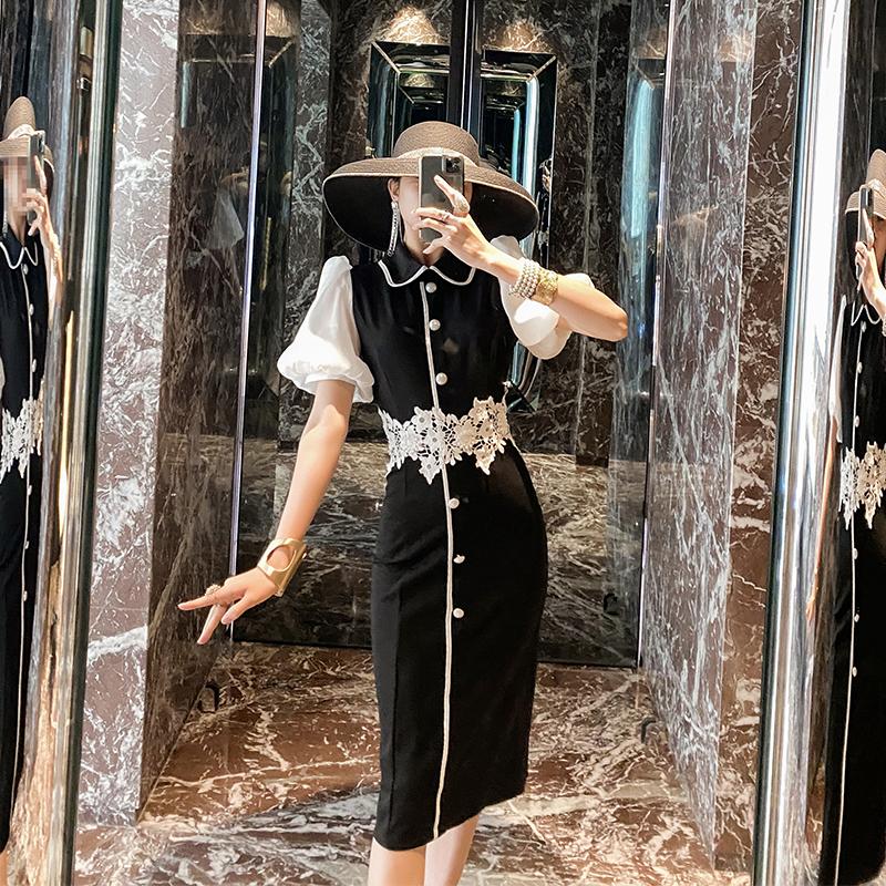 赫本风法式复古高腰裙子女2020新款女神范御姐轻熟气质包臀连衣裙