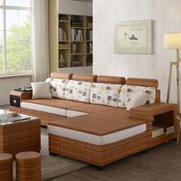 Виноградная лоза диван сочетание размер квартира гостиная современный угол плетеный стул диван китайский стиль ротанг ткань диван три группа