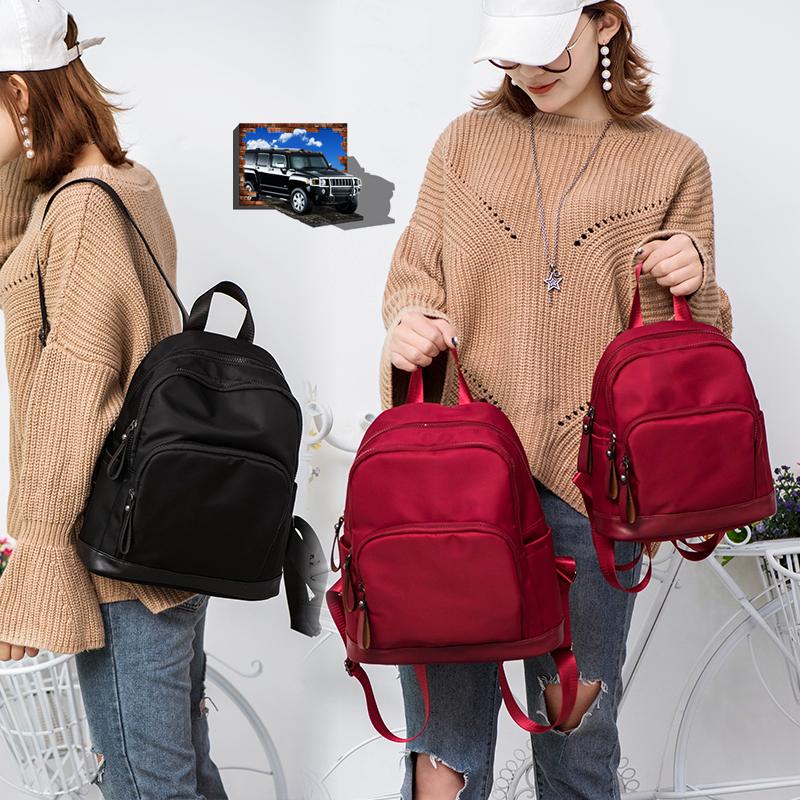 双肩包女韩版2019新款百搭潮时尚书包学生旅行尼龙包牛津布小背包