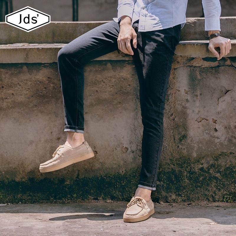 韩版潮流黑色修身男士牛仔裤秋季新款小脚裤百搭九分裤休闲长裤子