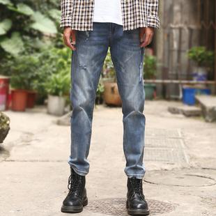 夏季薄款牛仔裤男士修身小脚潮牌休闲长裤子韩版潮流百搭2021新款