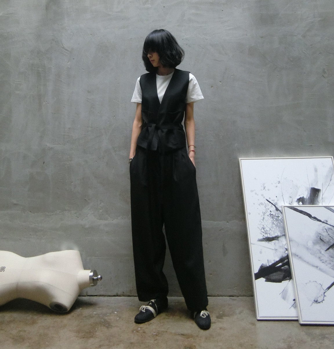 GodKnOws эксклюзивные индивидуальные нерегулярные Ёдзи yamamo Ёдзи Ямамото стиль Холтер ремень жилет