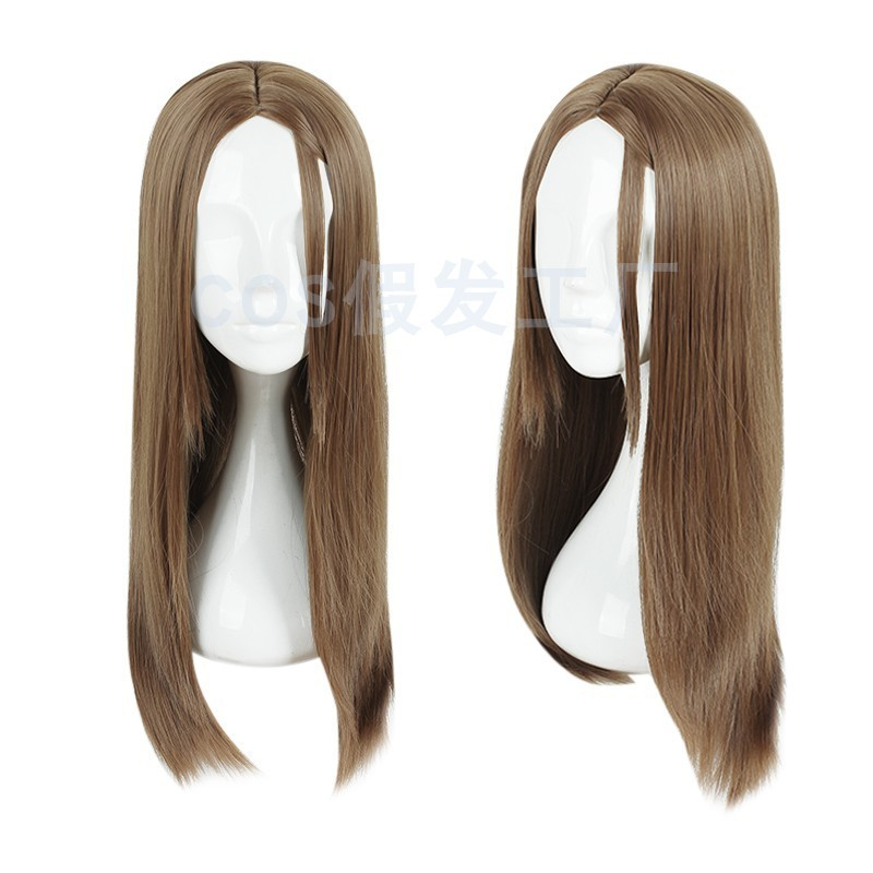 Cos wig factory Backstreet girl Yamamoto Aili layer Brown straight hair Cosplay animation prop package