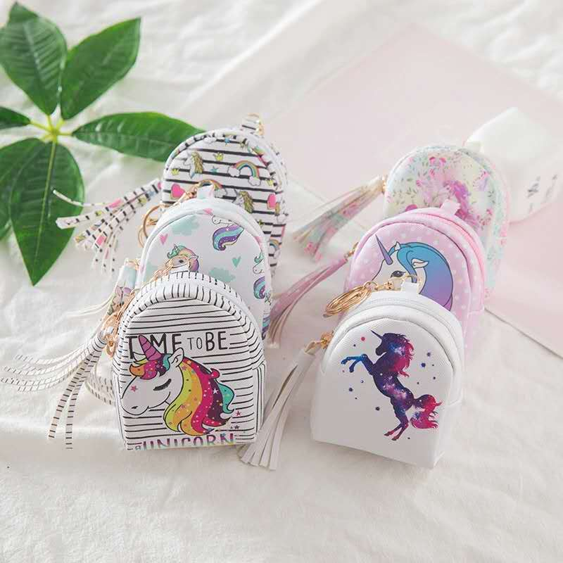 Special package new creative cartoon cute Unicorn Mini Backpack womens zero wallet childrens small wallet