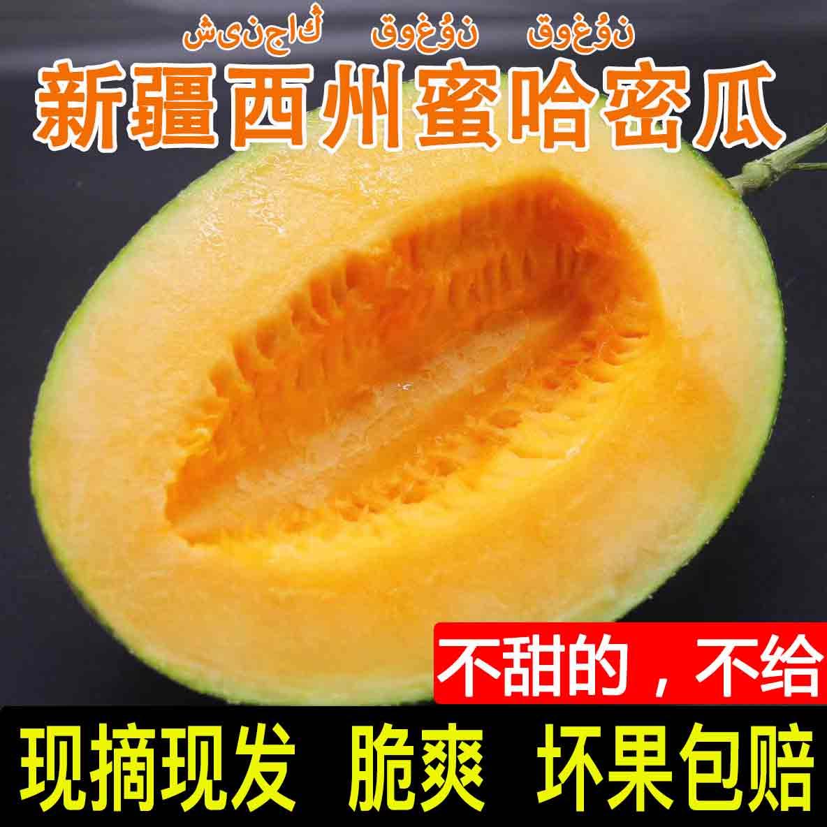 新疆哈密瓜水果新鲜包邮西州蜜25号甜瓜香瓜哈密瓜新鲜一箱特级限5000张券