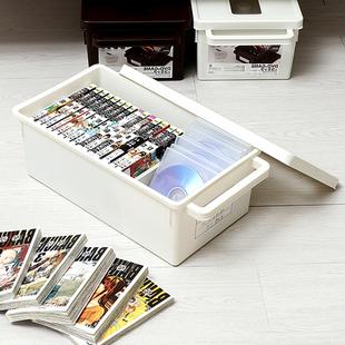 日本进口CD收纳盒DVD碟片整理盒大容量游戏光碟收纳盒ps4光盘盒