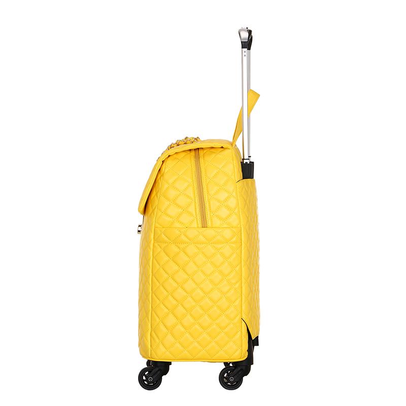 旅行箱女网红拉杆包万向轮20寸登机手提短途出差小行李箱红色轻便